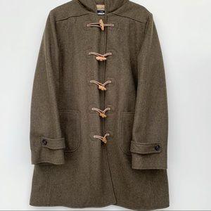 J.CREW Wool Hooded Toggle Coat